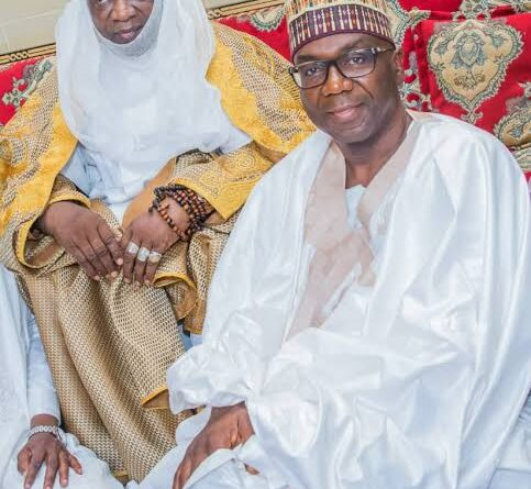 Emir Ibrahim Sulu-Gambari and Gov AbdulRahman AbdulRazaq