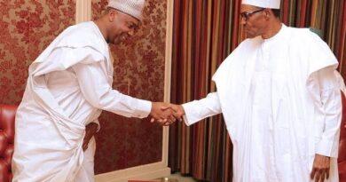 Sen. Bukola Saraki and President Muhammadu Buhari
