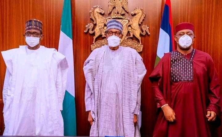 L-R Buni, Buhari and Fani-Kayode