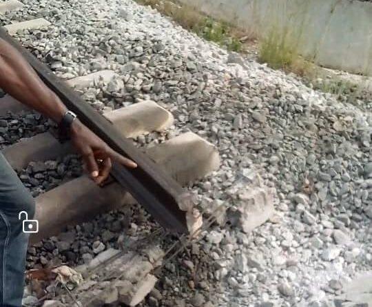 PHOTO: Rail Track Bombed as Bandits Attack Abuja-Kaduna Train